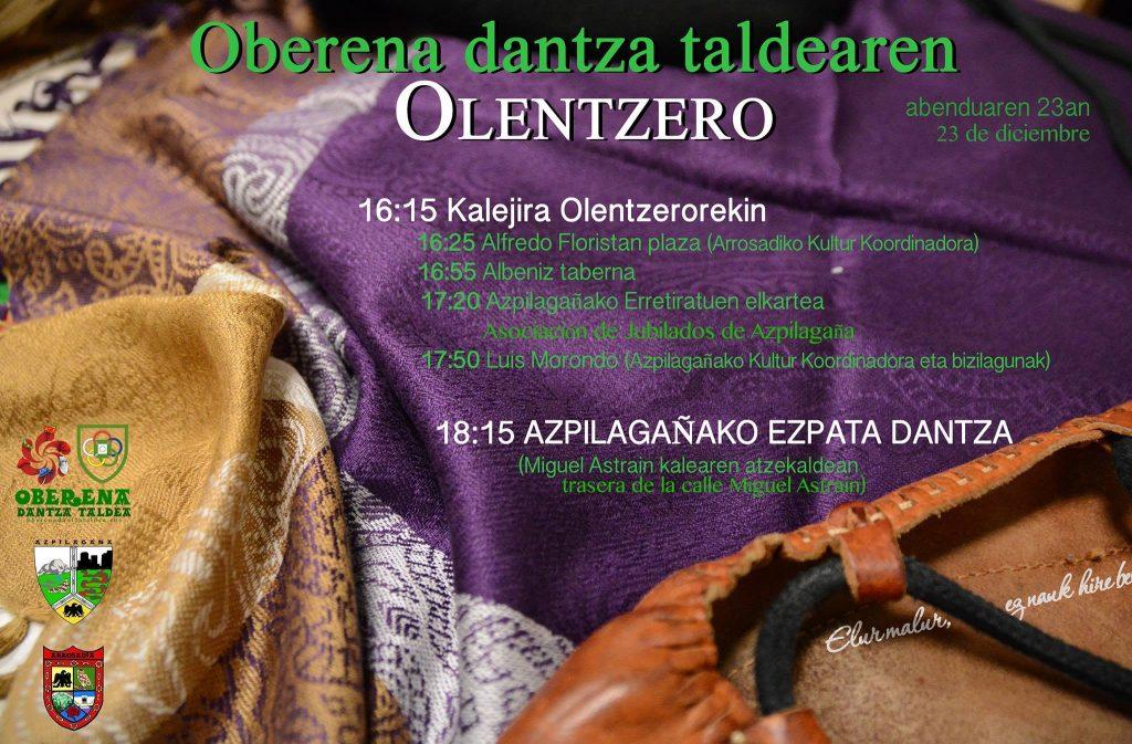 Oberena dantza taldearen Olentzeroren afixa